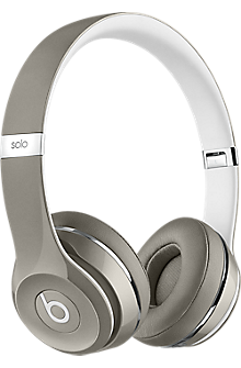 Beats Solo2 On-Ear Headphones - Luxe Edition Silver