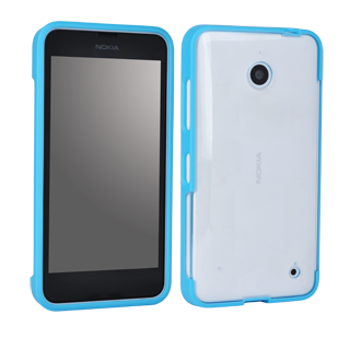 Nokia Lumia 635 Smooth Protective Cover - Clear & Cyan