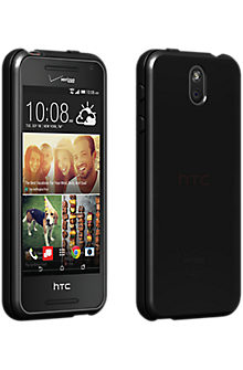 High Gloss Silicone Cover for HTC Desire 612 - Black