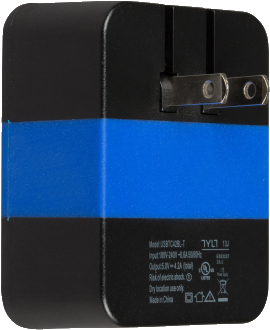 TYLT 4.2A Wall Travel Charger - Black & Blue