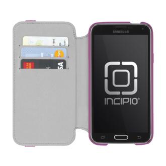 Samsung Galaxy S5 Incipio STOWAWAY Case - Pink & White