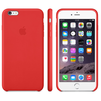 iPhone 6 Plus Leather Case - Bright Red