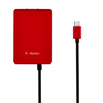 T-Mobile 3.1AMP Micro USB Wall Charger - Black and Red