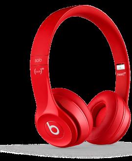 Beats Solo 2 Headphones - Red