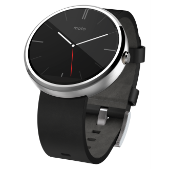 Moto 360 - Black and Stainless Steel