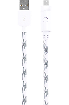 Braided Charge and Sync Cable for micro USB - White