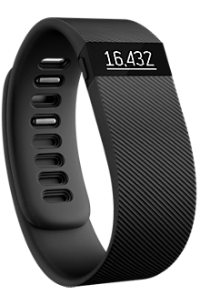 Fitbit Charge Wireless Activity Wristband - Black Large