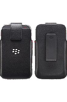 Leather Swivel Holster for Blackberry Classic - Black