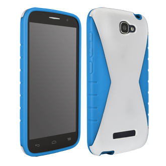 Alcatel OneTouch Fierce 2 Iceberg Protective Cover - White & Blue