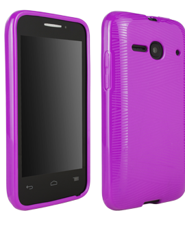 Alcatel OneTouch Evolve 2 Waves Protective Cover - Purple