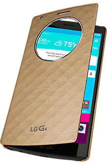 Quick Circle Folio Case for LG G4 - Gold
