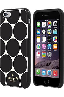 Flexible Hardshell Case for iPhone 6/6s - Oversized Dot Black