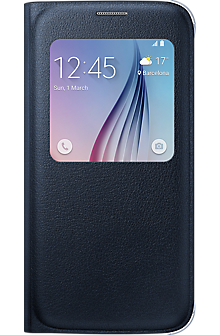 S-View Flip Cover for Samsung Galaxy S 6 - Black Sapphire