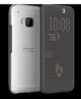 HTC One M9 Dot View Premium Case - Gray