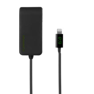 PureGear 12W/2.4A Wall Charger with Lightning Connector - Black