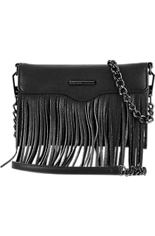 Universal Fringe Crossbody - Black