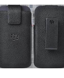 BlackBerry Classic Leather Swivel Holster - Black