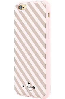 Flexible Hardshell Case for iPhone 6/6s - Rose Gold Diagonal Stripe