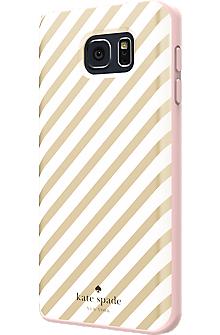Flexible Hardshell Case for Samsung Galaxy Note 5 - Gold Diagonal Stripe