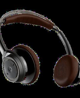 Plantronics BackBeat SENSE Wireless Headphones - Black & Brown