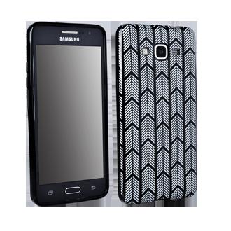 Samsung GALAXY GRAND Prime Flex Protective Cover - Black & White