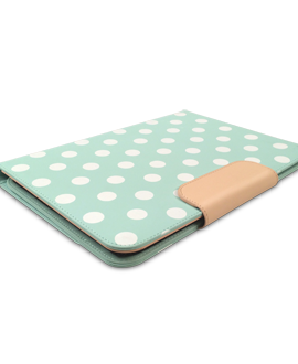 PureGear Universal 8 Inch Tablet Folio - Mint Dots