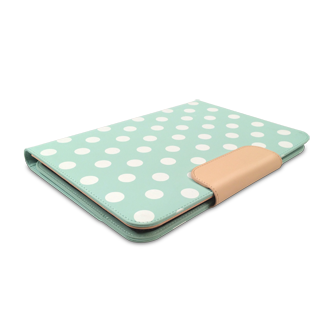 PureGear Universal 8 Inch Tablet Folio - Mint Dots