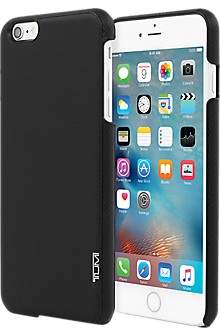 Split Leather Snap Case for iPhone 6 Plus/6s Plus - Black