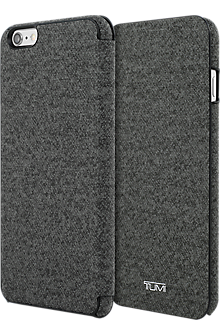 Coated Canvas Folio for iPhone 6 Plus/6s Plus - Earl Grey
