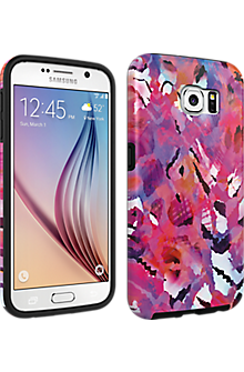 Milk & Honey Abstract Floral Cover for Samsung Galaxy S 6