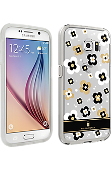 Milk & Honey Clear Gold Flower Cover for Samsung Galaxy S 6