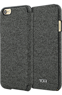 Coated Canvas Folio for iPhone 6/6s - Earl Grey