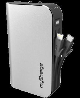 myCharge HubPlus 6000 mAh Power Bank - Silver
