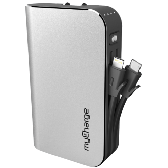myCharge HubPlus 6000 mAh Power Bank - Silver