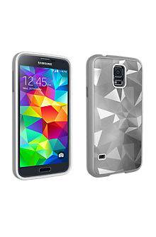 Geometric Cover for Galaxy S 5 - Silver