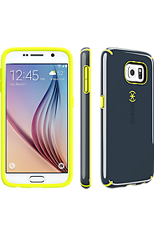 Speck CandyShell for Samsung Galaxy S 6 - Charcoal Grey-Anti-Freeze Yellow