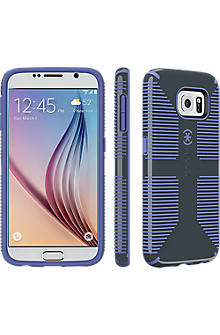 Speck CandyShell Grip for Samsung Galaxy S 6 - Charcoal Grey-Wisteria Purple