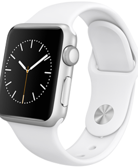 Apple Watch Sport: 38mm Silver Aluminum Case w/ White Sport Band