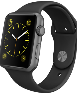 Apple Watch Sport: 42mm Space Gray Aluminum Case w/ Black Sport Band