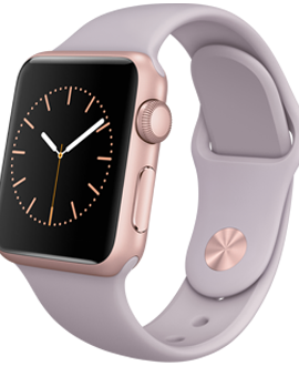 Apple Watch Sport: 38mm Rose Gold Aluminum Case w/ Lavender Sport Band