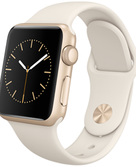 Apple Watch Sport: 38mm Gold Aluminum Case w/ Antique White Sport Band