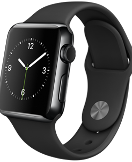 Apple Watch: 38mm Space Black Stainless Steel Case w/ Black Sport Band