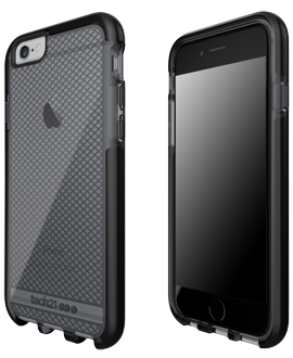 Apple iPhone 6/6s Tech21 Evo Check Case - Smoke & Black
