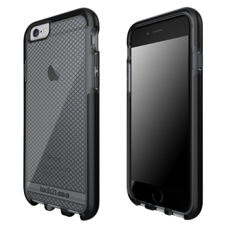 Apple iPhone 6/6s Tech21 Evo Check Case - Smoke & Black