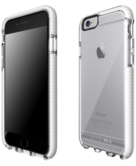 Apple iPhone 6/6s Tech21 Evo Check Case - Clear & White