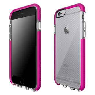 Apple iPhone 6/6s Tech21 Evo Check Case - Clear & Magenta