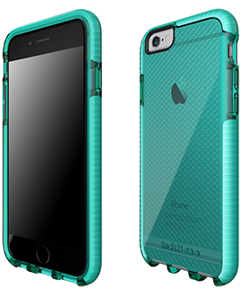 Apple iPhone 6/6s Tech21 Evo Check Case - Aqua & White