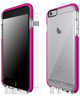 Apple iPhone 6/6s Plus Tech21 Evo Check Case - Clear & Magenta