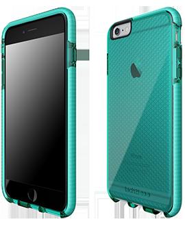 Apple iPhone 6/6s Plus Tech21 Evo Check Case - Aqua & White