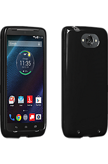 High Gloss Silicone Case for DROID Turbo - Black